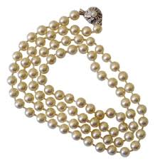 necklace clasps vintage images Ivory vintage japan kai pearl with silver clasp excellent jpg