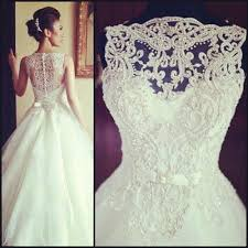 vintage lace top wedding dresses vintage sleeveless princess beaded lace and tulle wedding dress
