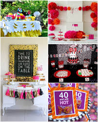 Mens 40th Birthday Decorations 40th Birthday Party Themes And Ideas Image Inspiration Of Cake