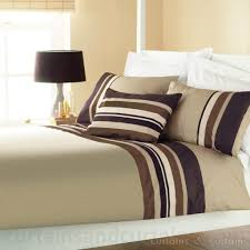 Cheap Bed Linen Uk - yale chocolate brown striped cheap duvet quilt cover bedding uk
