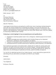 sample staff nurse resume cover letter template for nursing