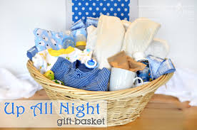 baby shower gift basket ideas match the theme and color horsh