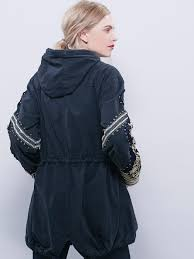 Free People Parka Free People Golden Quills Military Parka In Black Lyst