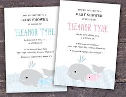 whale baby shower invitation template for word and by itsprintable