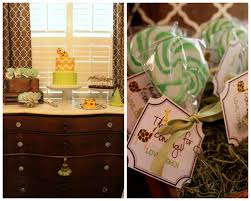 100 green and brown baby shower exciting baby shower table