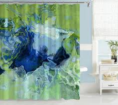green and blue shower curtain curtains wall decor