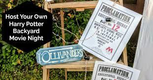 Backyard Movie Night Host Your Own Harry Potter Backyard Movie Night