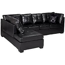 Black Sofa Sectional Contemporary Black Leather Sectional Sofa Left Side