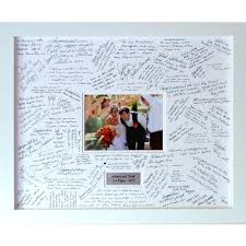 guest book personalised wedding guest book frame large contemporary