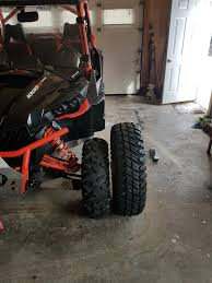 33 inch tires with no big tire thread for x3