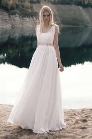 summer wedding dresses a line sleeveless chiffon lace summer wedding dress