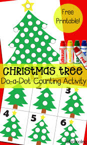 christmas tree do a dot counting activity totschooling toddler
