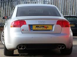 audi s4 exhaust s4 b7 milltek resonated quieter cat back exhaust system w