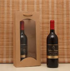 gift packaging for wine bottles 10pcs kraft gift cosmetic make up packaging bag with window bottle