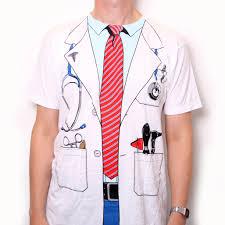 Halloween T Shirt Costumes Doctor T Shirt Fancy Dress Costume Print Us Import Costume T