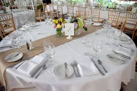 rustic vermont wedding burlap runners wedding tables and rustic