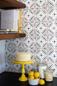 backsplash for black and white kitchen b black white geometrical pattern kitchen backsplash design idea