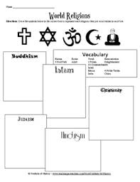 world religions vocabulary worksheet by students of history tpt