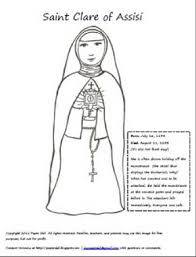 rakhi coloring pages st clare coloring page and podcast catholicmom com