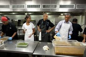 white house family kitchen president barack obama and daughter malia participate in a service