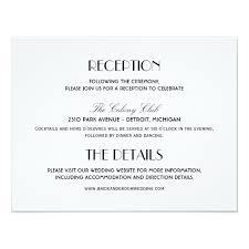 wedding reception card wedding reception card deco style zazzle
