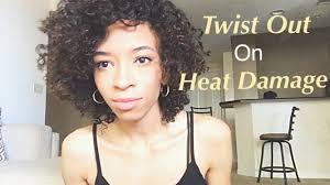 natural hair twist out on heat damaged hair and prep wash youtube