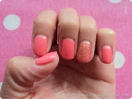 summery coral gel nails quite frankly she said