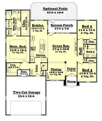 3 Bed 2 Bath House Plans Traditional Style House Plan 3 Beds 2 00 Baths 1764 Sq Ft Plan
