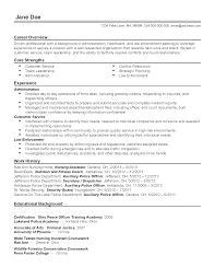 Law Enforcement Sample Resume by 100 Sample Resume For Police Officer Linkedin Cover Letter