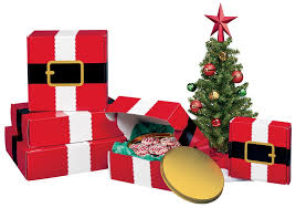 christmas boxes santa s belt shipping boxes box and wrap