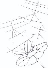 learn how to draw a butterfly on a flower by tutorial