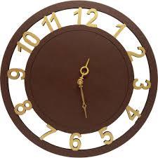 Wooden Wall Clock Earth Wooden Wall Clock Clocks Homeshop18
