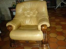 vend canapé canape cuir et bois rustique vend salon occasion salons canape