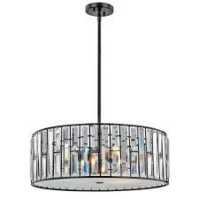 Decor Living Tomas 3 Light Black Crystal Pendant Ebay