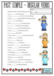 esl kids world past tense verbs printable worksheets dirty