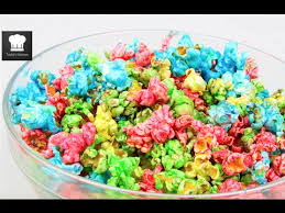 how to make rainbow popcorn youtube