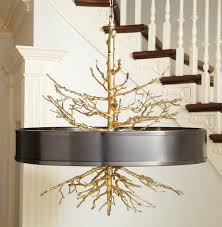 Ceiling Pendant Lights by Bijou Tree Branch Hollywood Regency Brass Bronze Ceiling Pendant