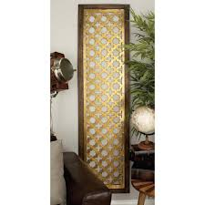 Home Depot Decorative Wall Panels 71 In X 19 In Modern Decorative Lattice Patterned Wood And Iron