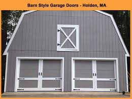 new barn style garage doors install in holden ma