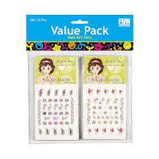 amazon com 12 nail art decal sets toys u0026 games