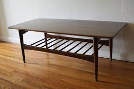 mcm coffee table with slatted bottom shelf 1 picked vintage