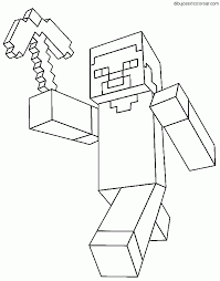 minecraft steve coloring page free download