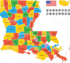 Free State Maps by Detailed Vector Map Of Louisiana Stock Vector Art 533964003 Istock