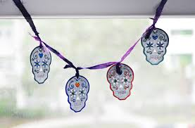 diy sugar skull garland creations