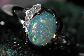 natural opal rings images A stunning 9x7 natural ethiopian blue based pin fire opal ring set jpg