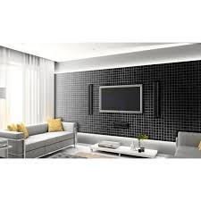 mosaic wall tiles black crystal backsplash kitchen tile mosaic