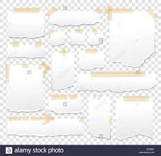 white paper sheets with scotch tape set sticky papers with