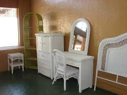 Wicker Vanity Set White Wicker Bed Frame Rattan Bedroom Furniture Indoor
