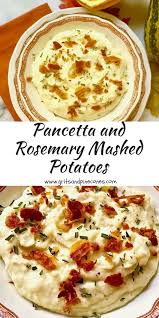 pancetta and rosemary mashed potatoes grits and pinecones