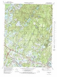 Map Of Mass Wareham Topographic Map Ma Usgs Topo Quad 41070g6